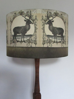 Taupe Faux Silk Stags