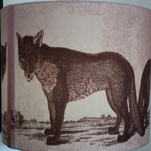 Pink Wolf Lampshade