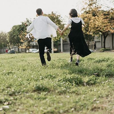 婚紗寫真/在富錦街奔跑一波