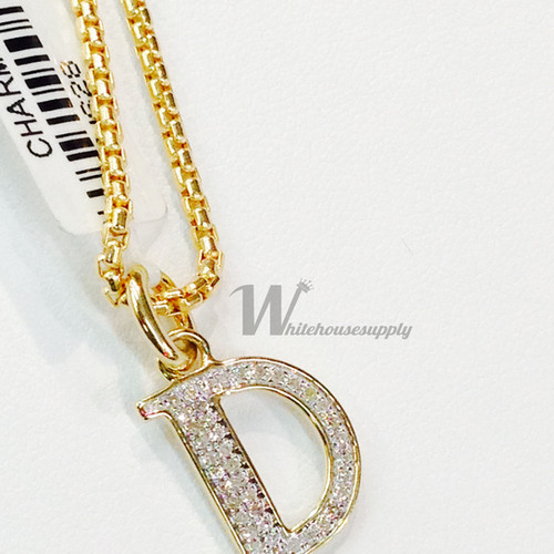 Whitehousesupplyllc diamond letter pendants and chains diamond letter pendant d with italian chain aloadofball Images