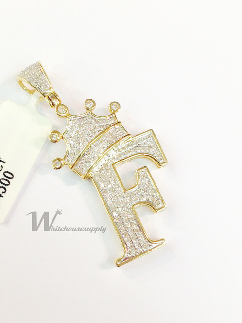 Diamond letter pendant with crown f whitehousesupplyllc diamond letter pendant with crown f aloadofball Choice Image