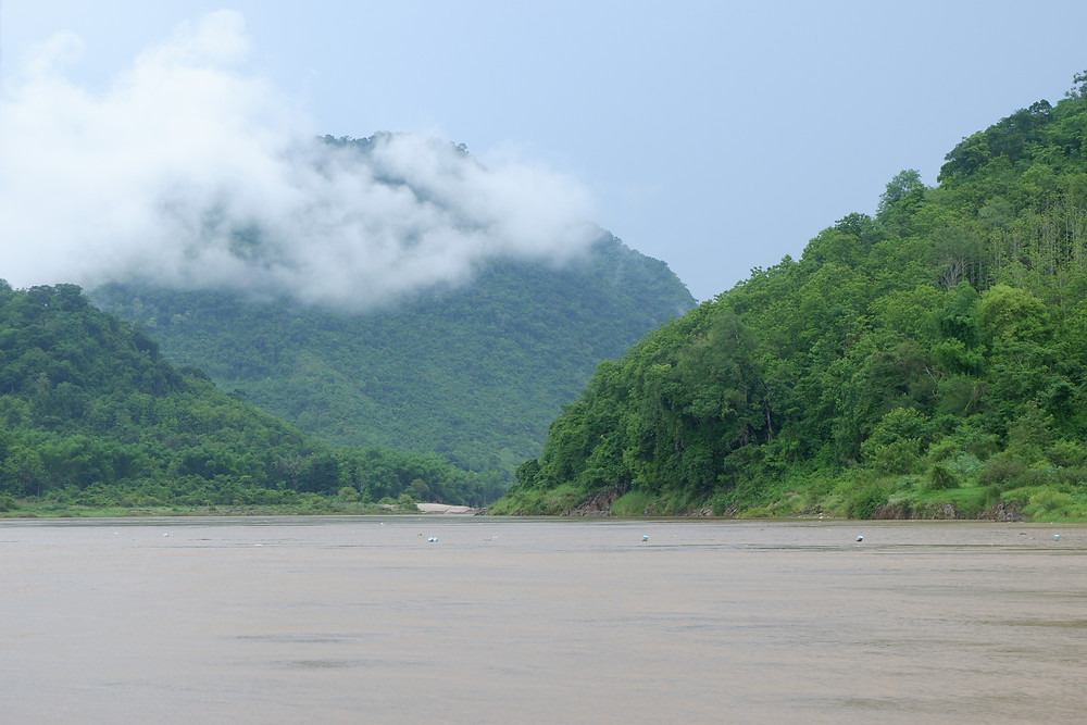 The tropical rainforest and hills of Laos