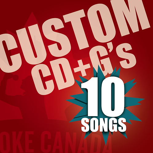 Custom Karaoke CD+G 10 Songs