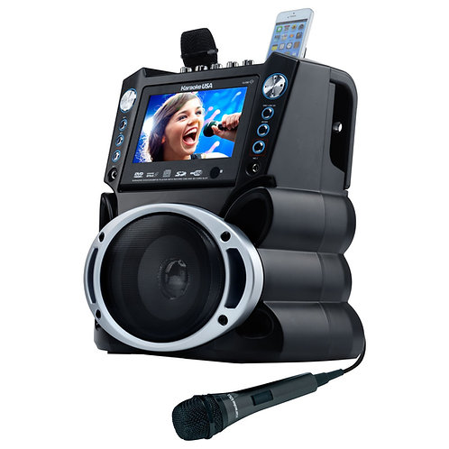 "GF839 DVD/CDG/MP3G Karaoke Machine with 7"" TFT Color Screen and Record Function"