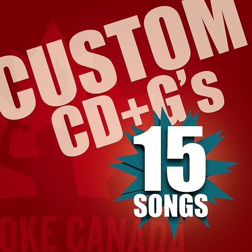 Custom Karaoke CD+G 15 Songs