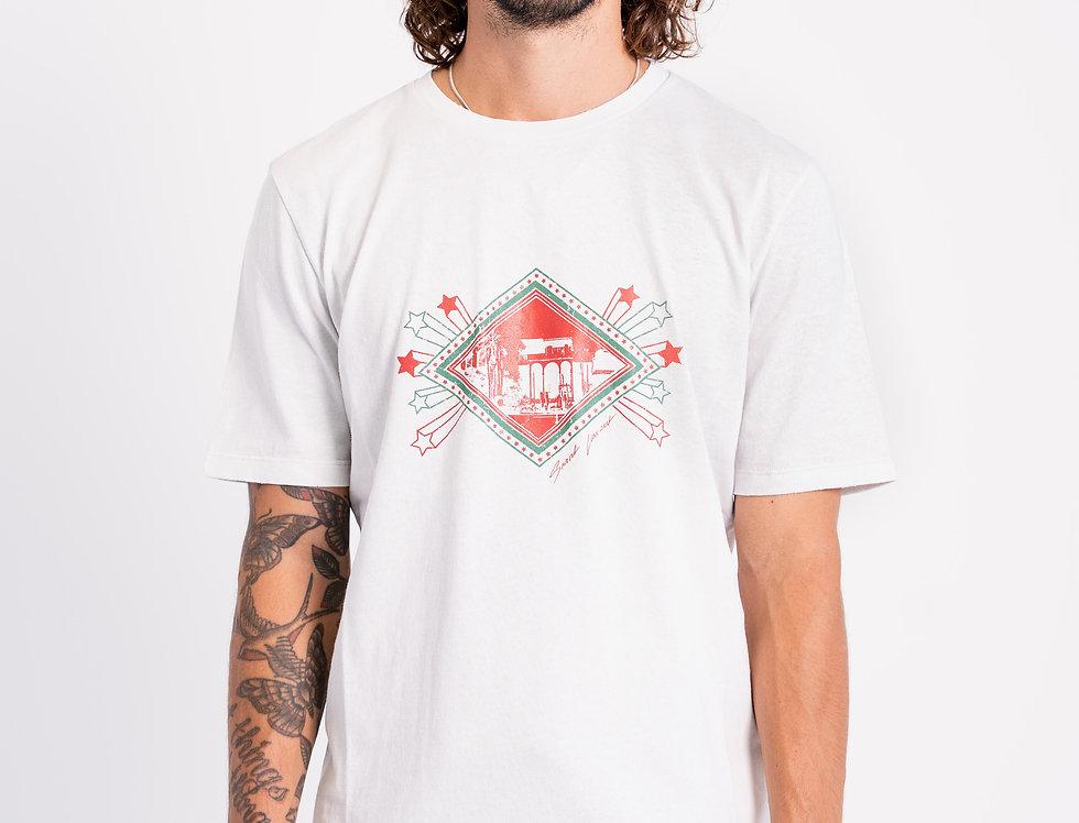 Saint Laurent Paris - Mens Graphic T-Shirt In White front view