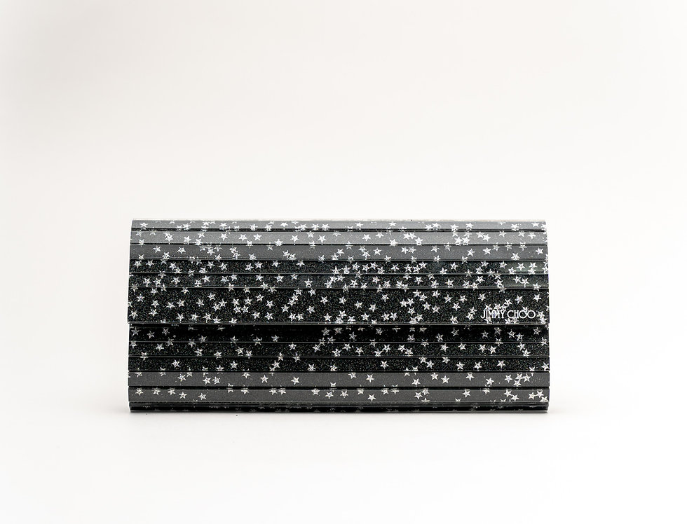 Jimmy Choo Sweetie Clutch Bag with chain in Black
