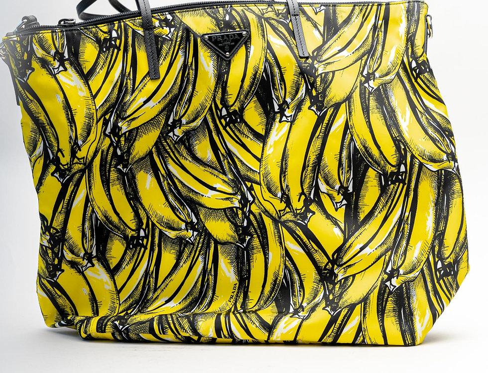 "Prada ""Banana"" Nylon Tote"