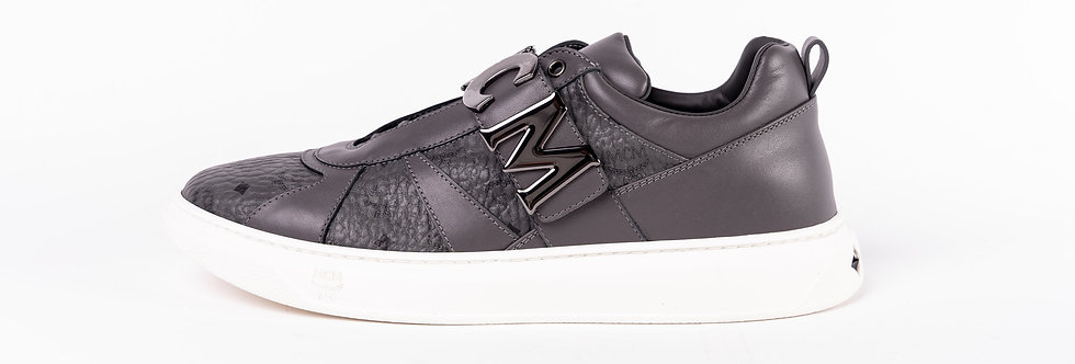 MCM Low Top Trainers In Grey side view