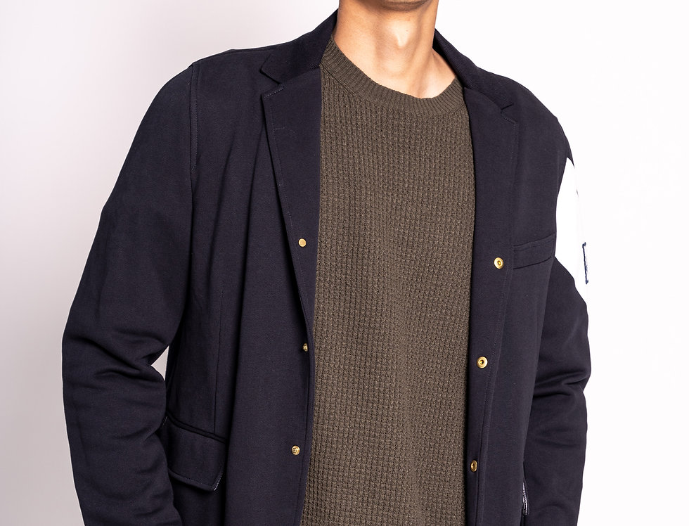 Moncler Buttoned Blazer in Navy