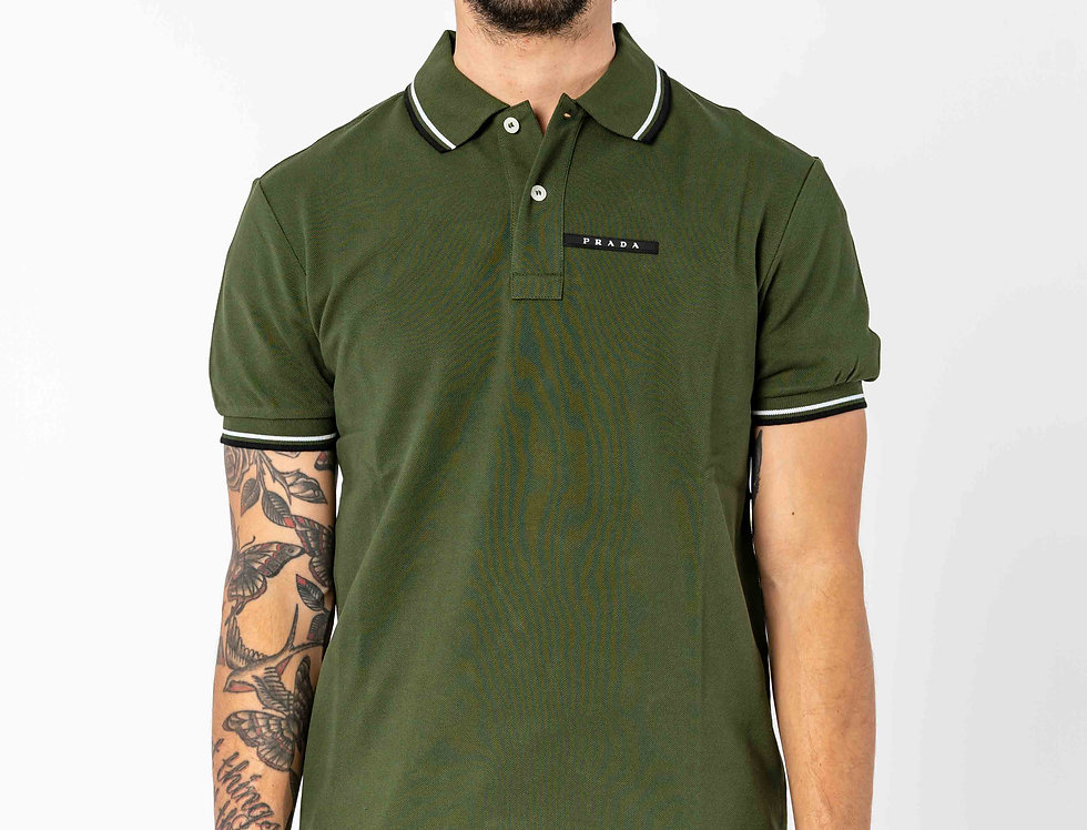 Prada Polo In Forest Green