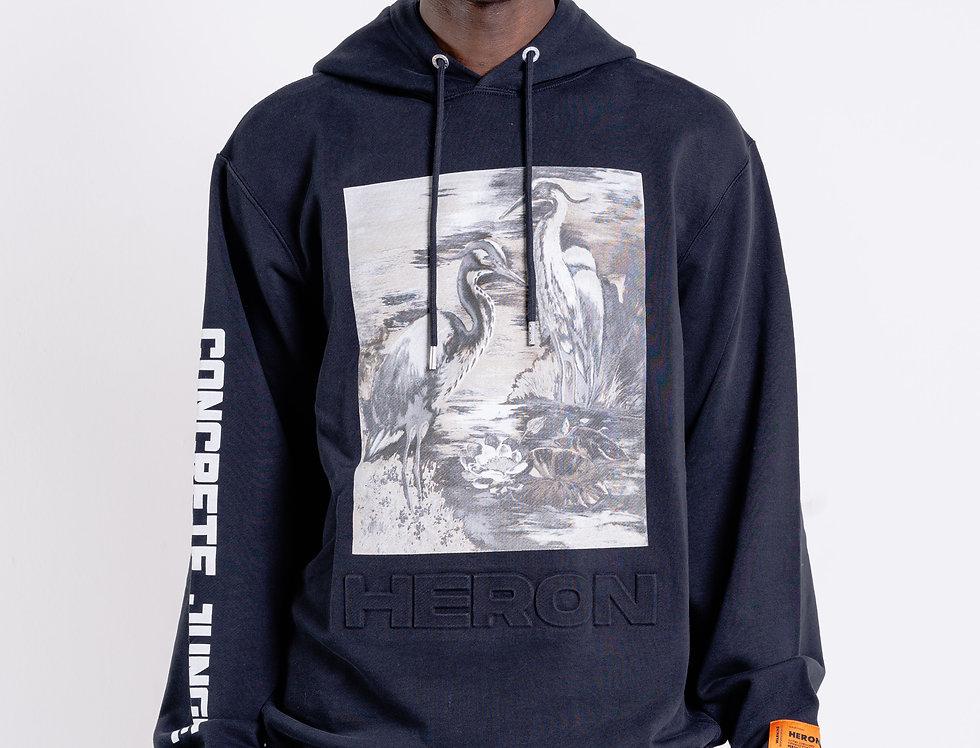 Heron Preston Hooded Sweatshirt In Black
