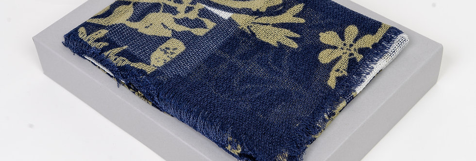 Vivienne Westwood Scarf In Navy & Yellow