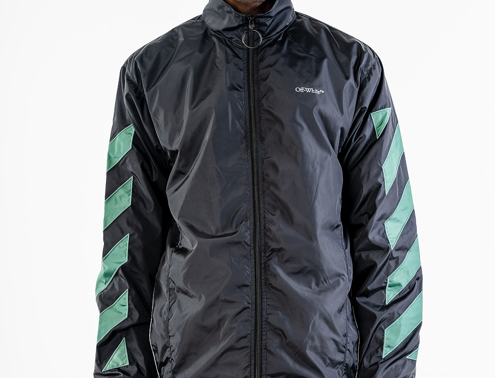 OFF-WHITE™️ AW20 Green Diagonals Nylon Jacket