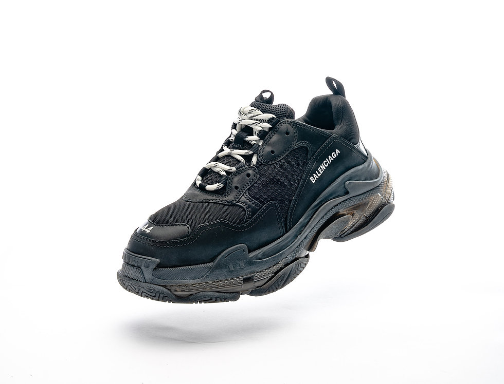 Balenciaga Triple S Trainers In Black and Grey