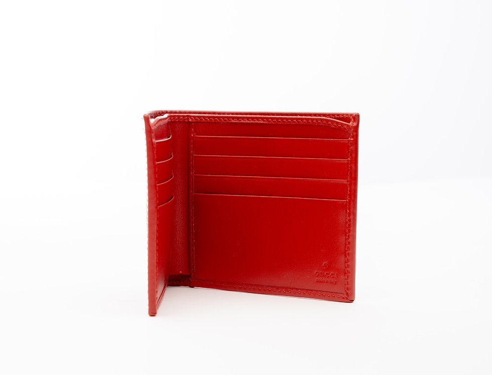 Gucci Leather Wallet In Red