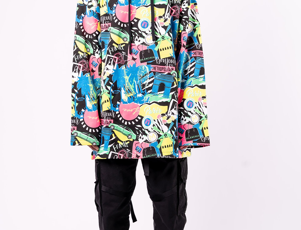 Balenciaga - Mens Hooded Sweatshirt In Multicoloured full view