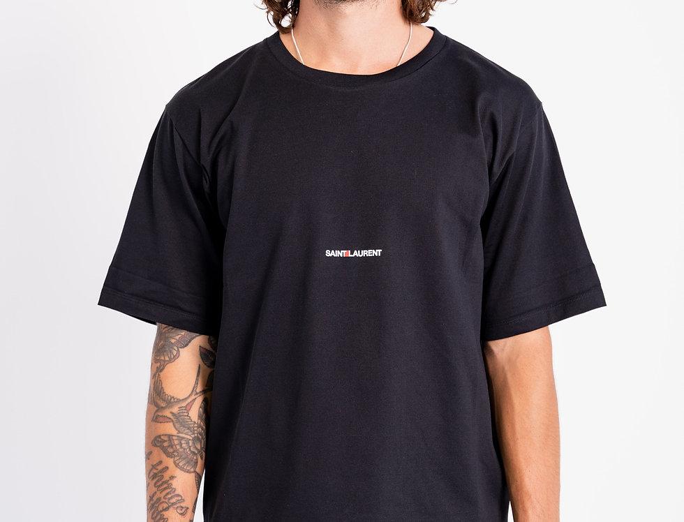 Saint Laurent Paris - Mens Logo T-Shirt In Black front view