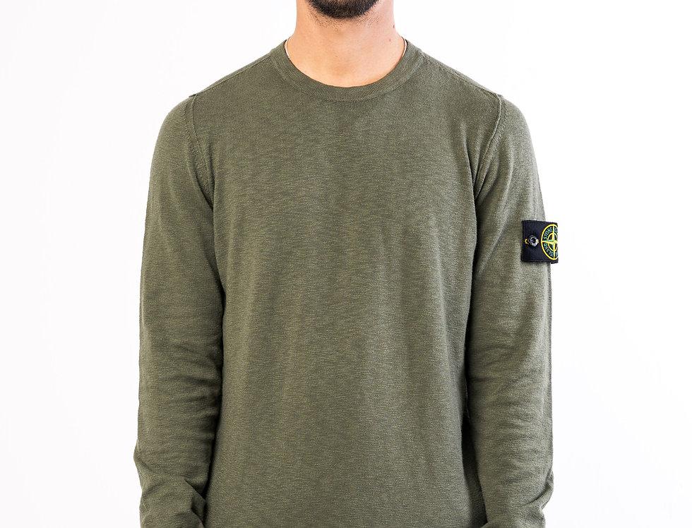 Stone Island Sweater In Khaki