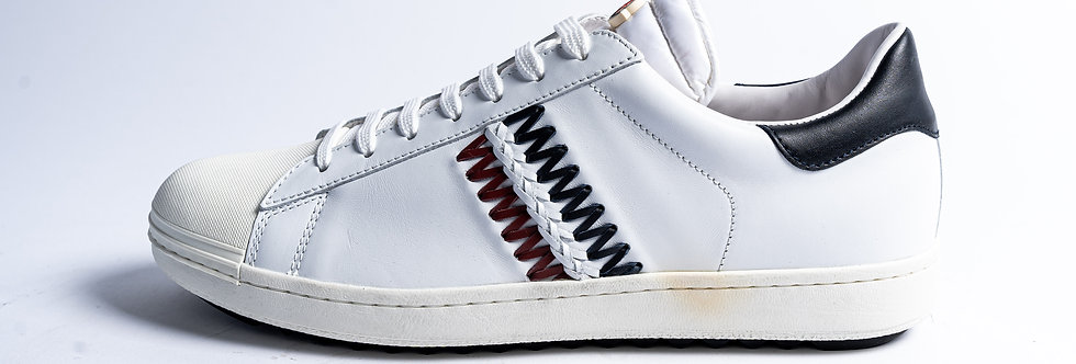 """Moncler """"JOACHIM"""" Sneakers In White side view"""