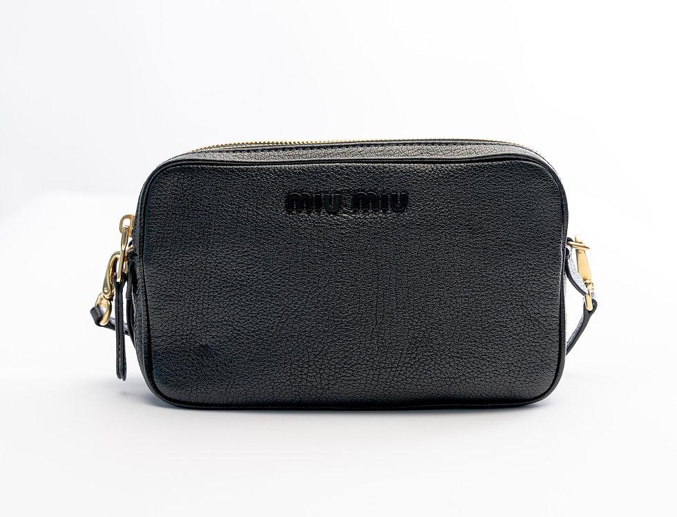 Miu Miu Madras Cross Body Bag In Black