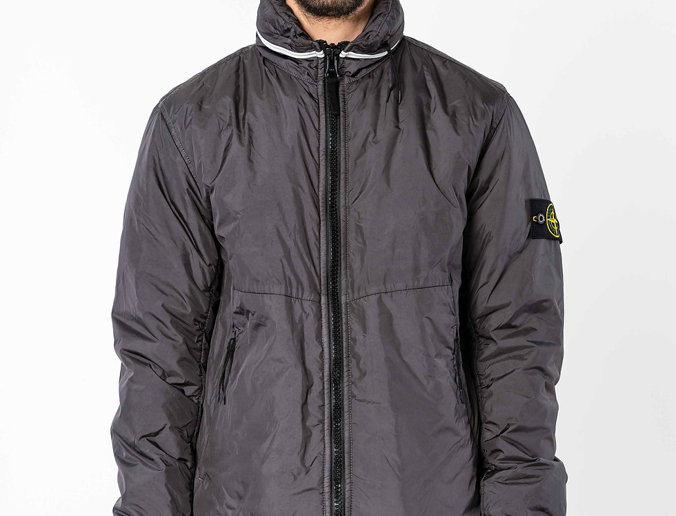 Stone Island Garment Dyed Crinkle Reps NY With Primaloft In Grey