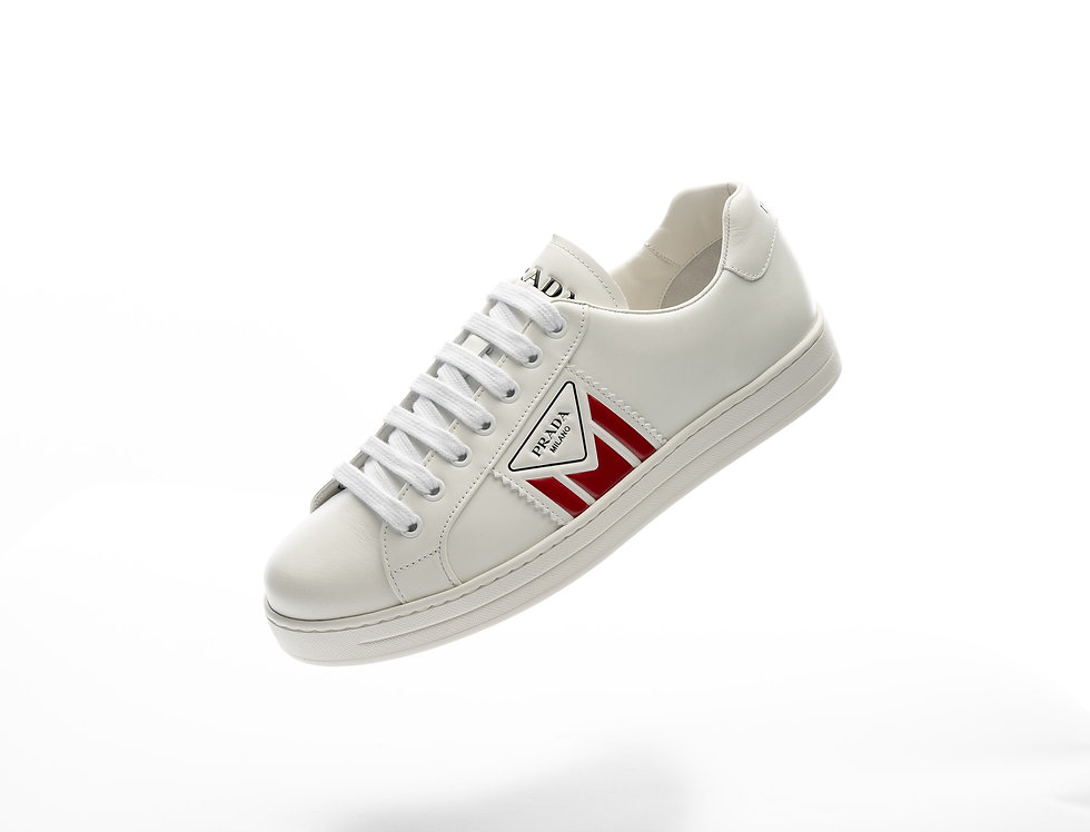 Prada New Avenue Sneakers In White
