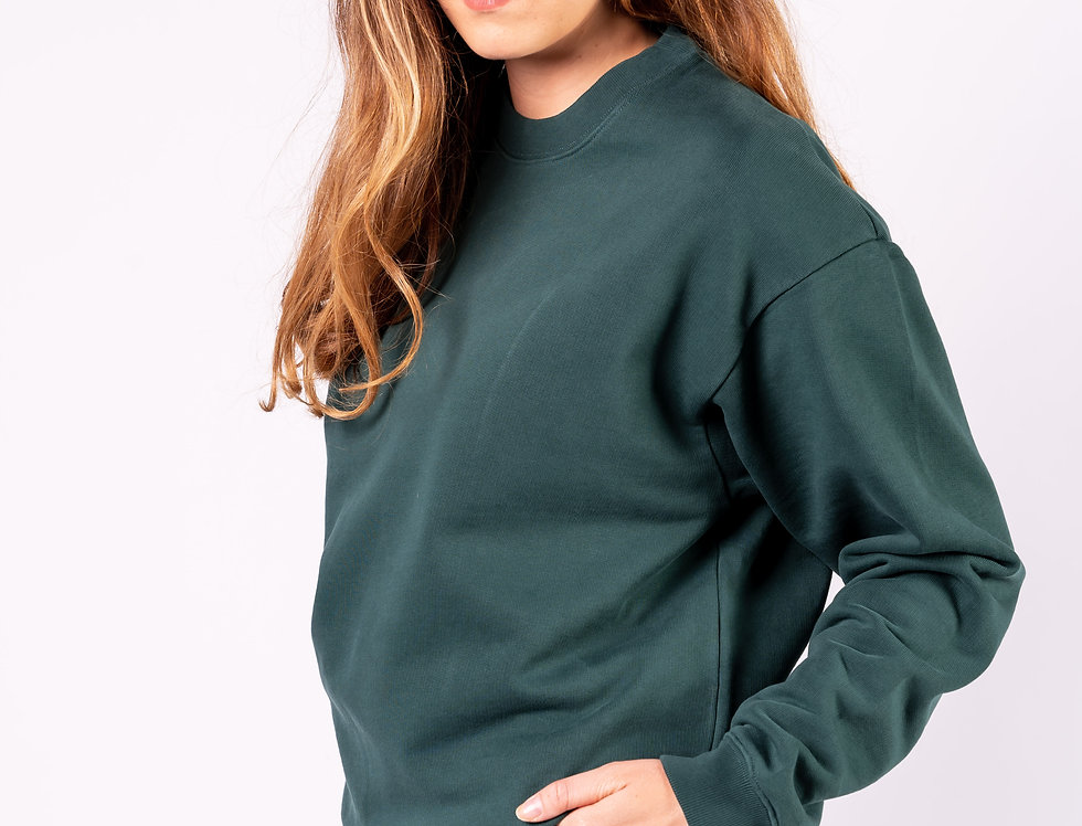 Balenciaga - Ladies Sweatshirt In Green front view
