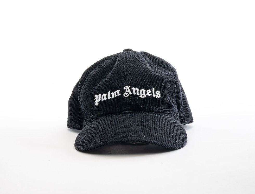 Palms Angels Black Corduroy Cap
