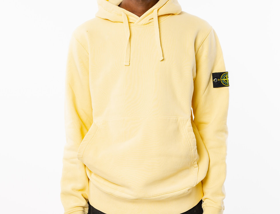 Stone Island Yellow Hooded Sweatshirt