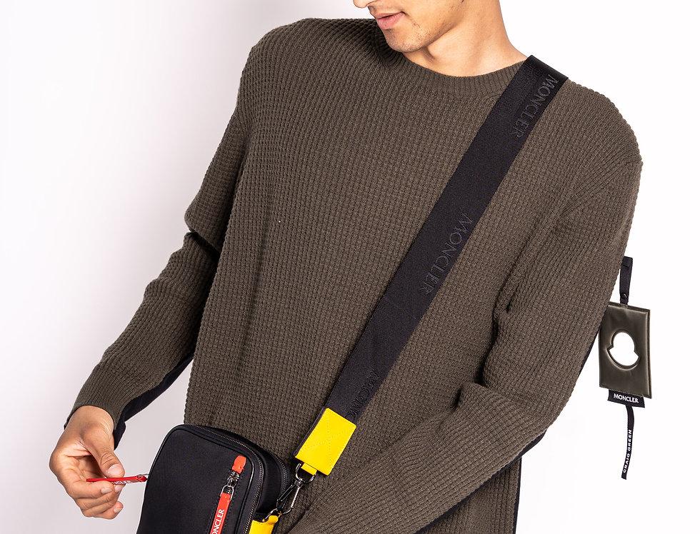 Moncler Black & Yellow Shoulder Bag