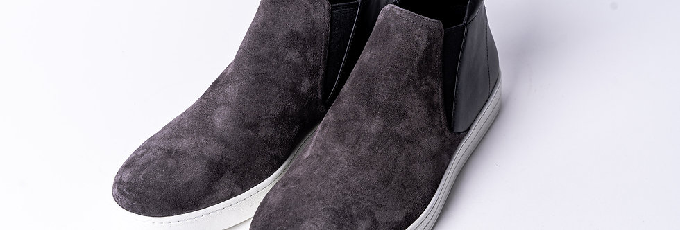 Prada Suede Canvas Boot front view