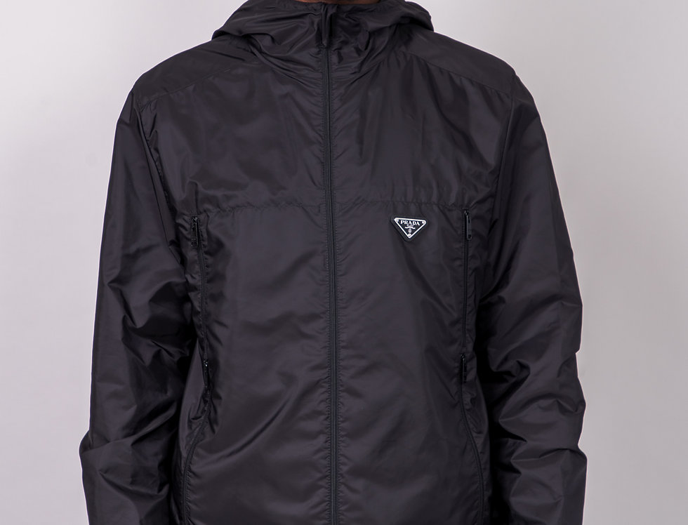 Prada Nylon Zip Up Jacket front view
