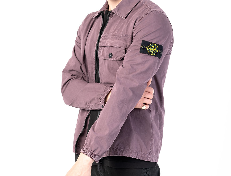 Stone Island T.CO+OLD Overshirt In Violet