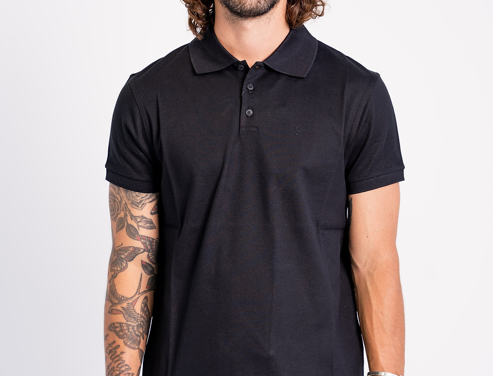 Saint Laurent Paris - Mens Polo In Black