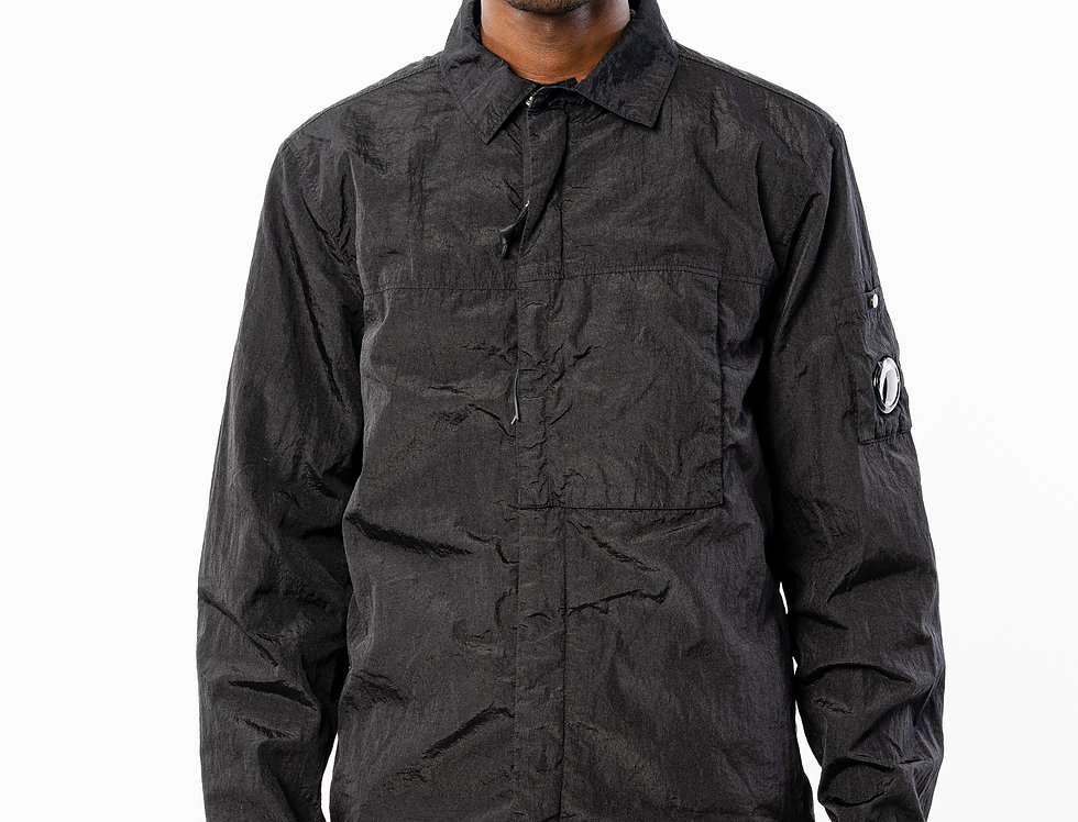 C.P. Company AW20 Overshirt In Black front view