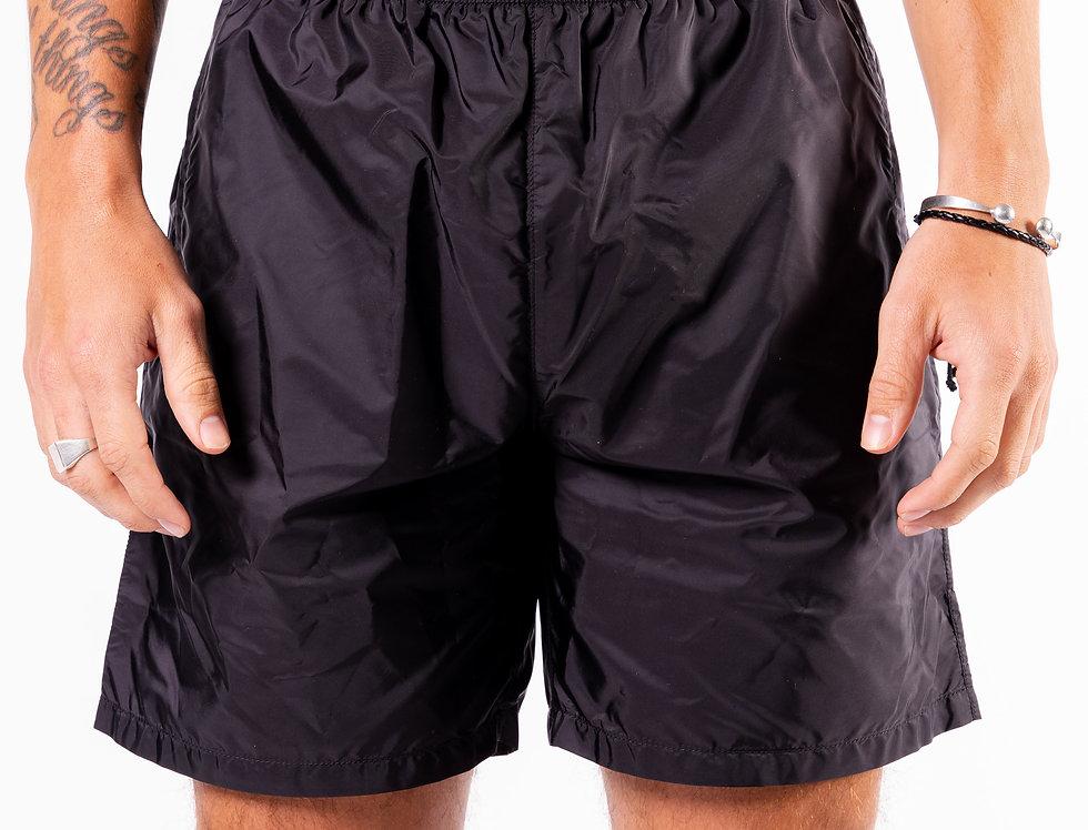 Prada SS20 Nylon Shorts front view
