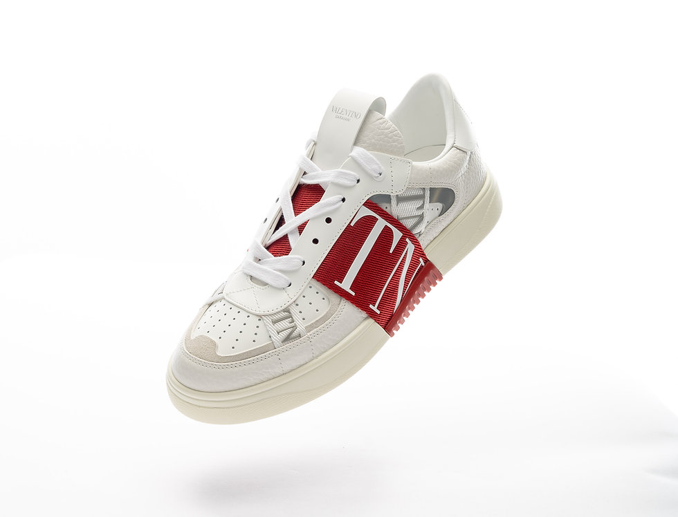 Valentino Low Sneaker In Red & White