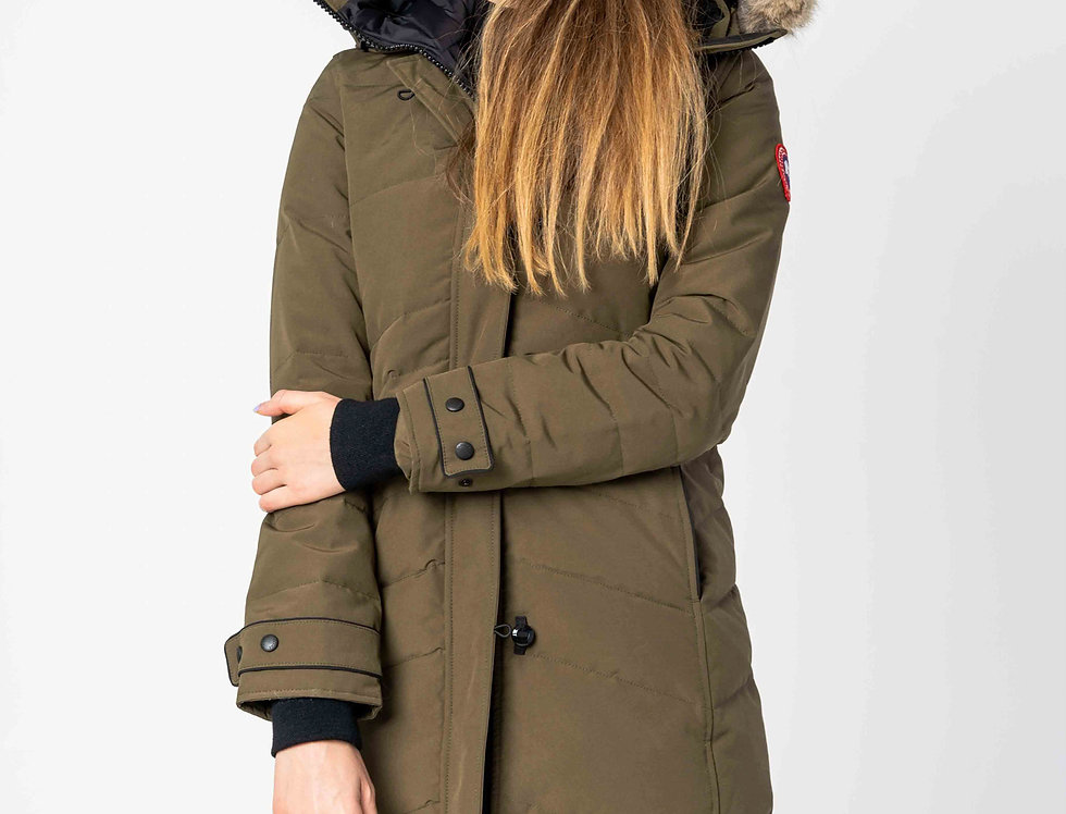 Canada Goose Lorette Parka In Military Green