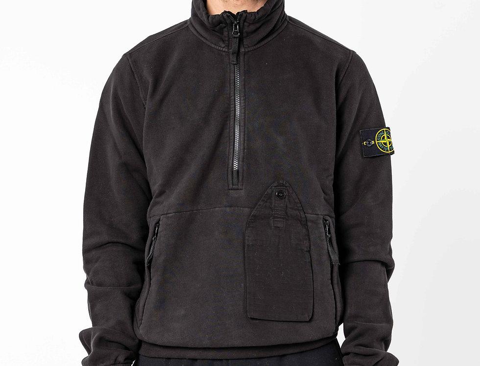 Stone Island Half Zip Sweatshirt In Black
