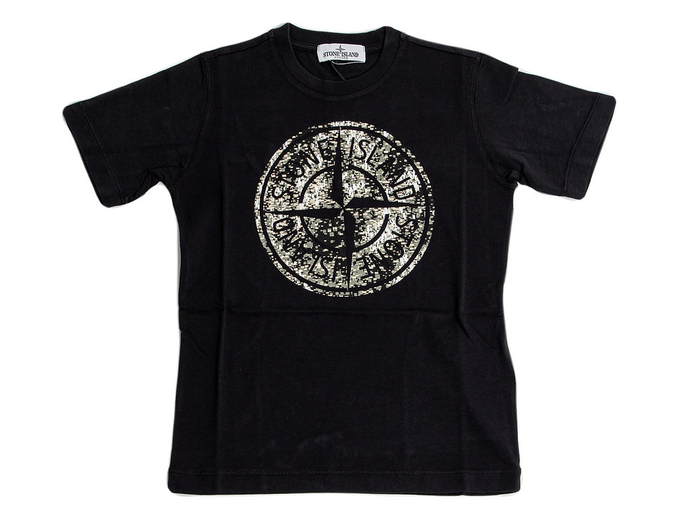 Stone Island Junior Graphic T-Shirt front view