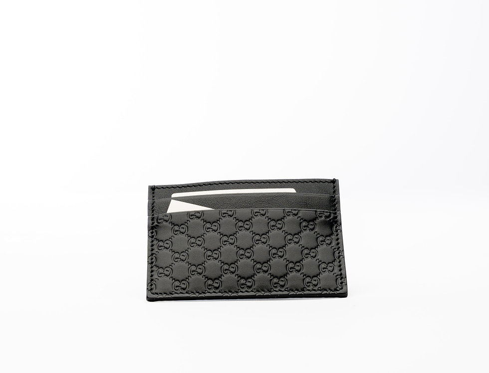 Gucci GG Card Holder In Black