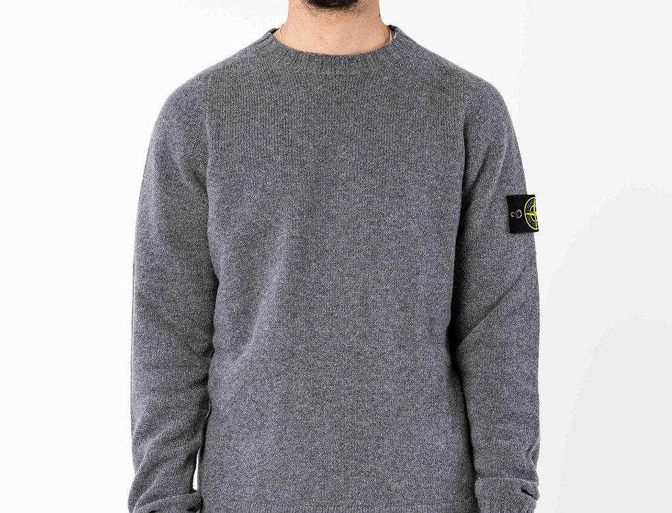 Stone Island Light Grey Knitted Sweater