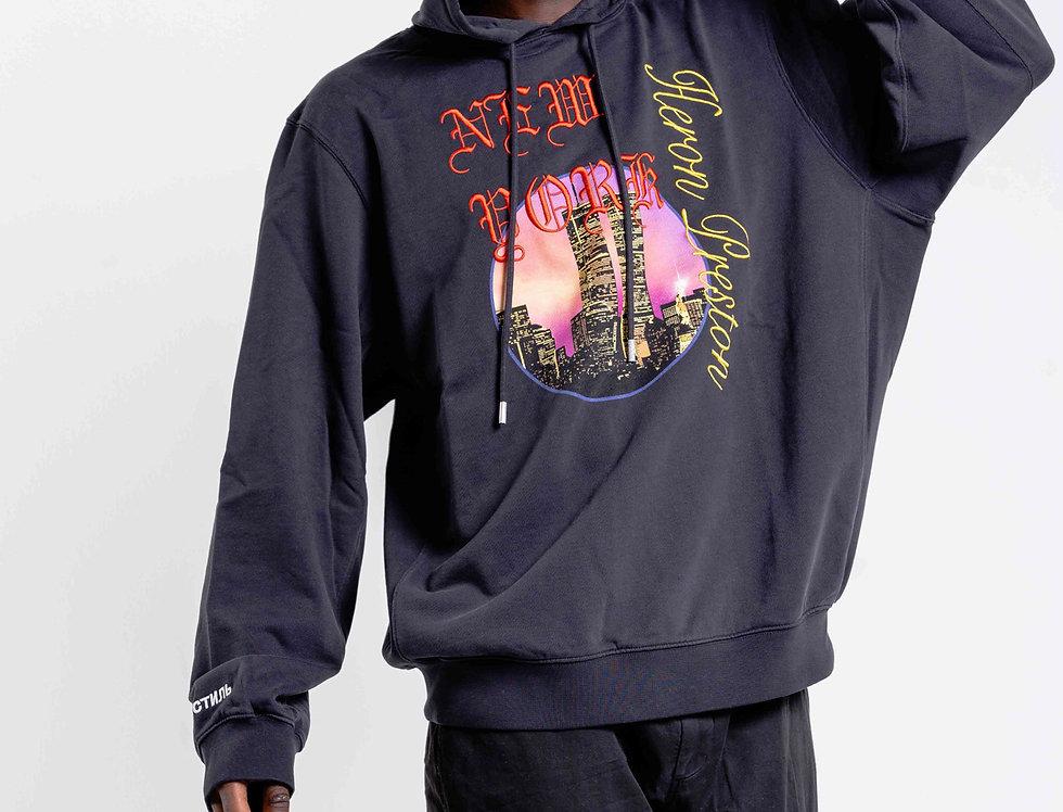 Heron Preston 'NEW YORK' Hooded Sweatshirt In Black