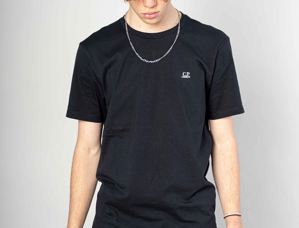 C.P. Company SS21 Jersey 30/1 Graphic T-shirt in Black