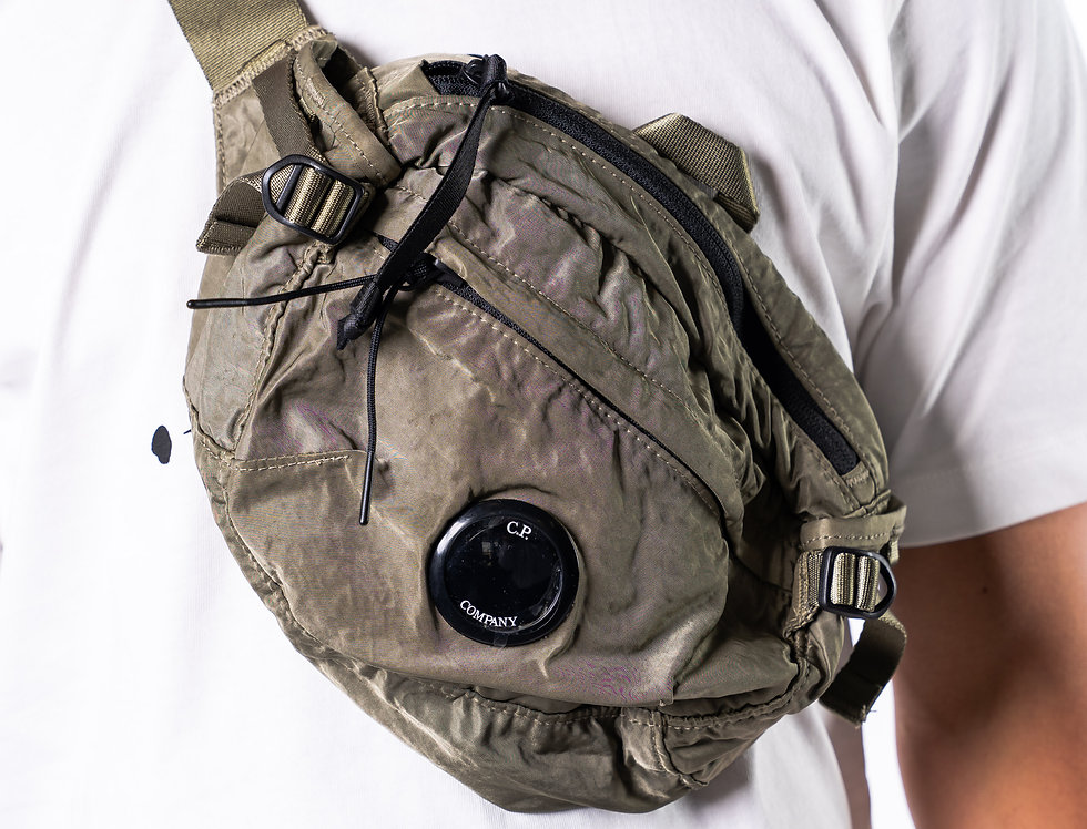 C.P. Company SS20 Green Waist Bag front view