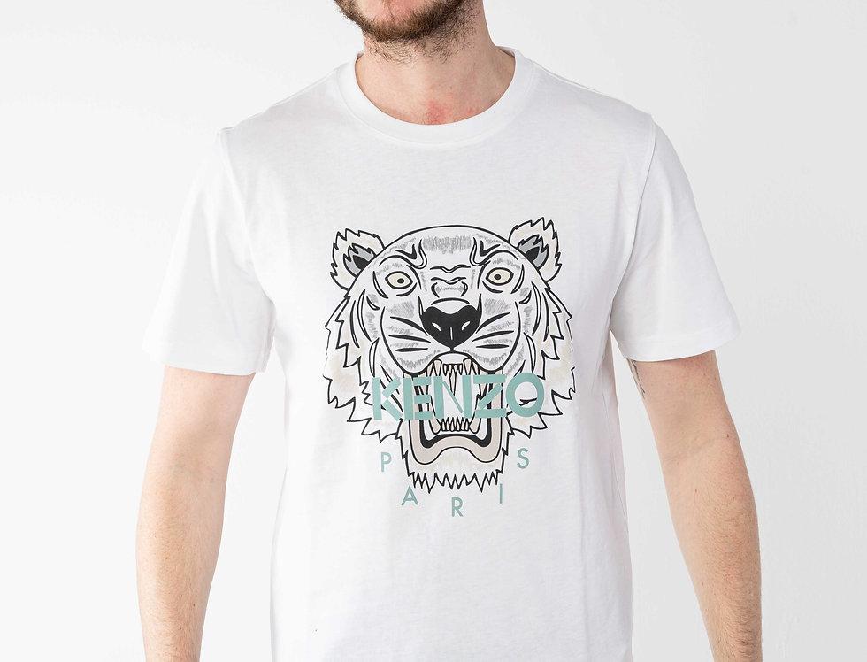 """Kenzo White """"Tiger"""" Tshirt"""