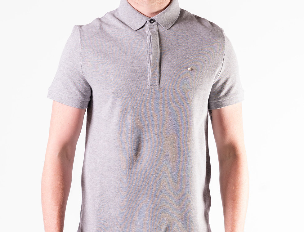 Valentino Rockstud Polo In Grey front view