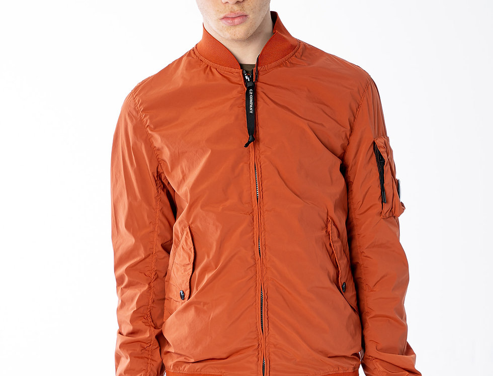 C.P. Company SS21 Nycra R Bomber In Burnt Ochre