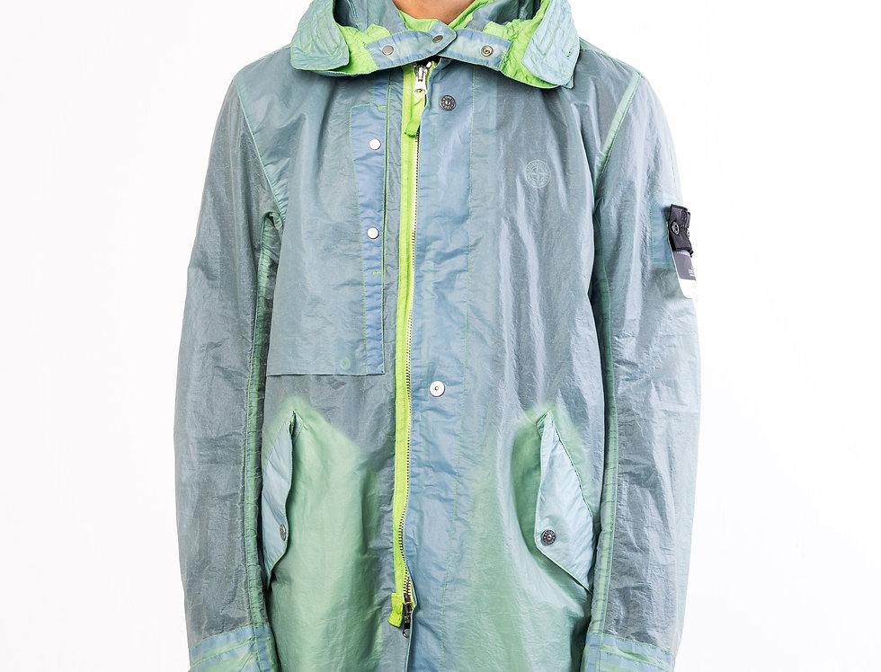 Stone Island Shadow Project OPAK Jacket In Green and Blue